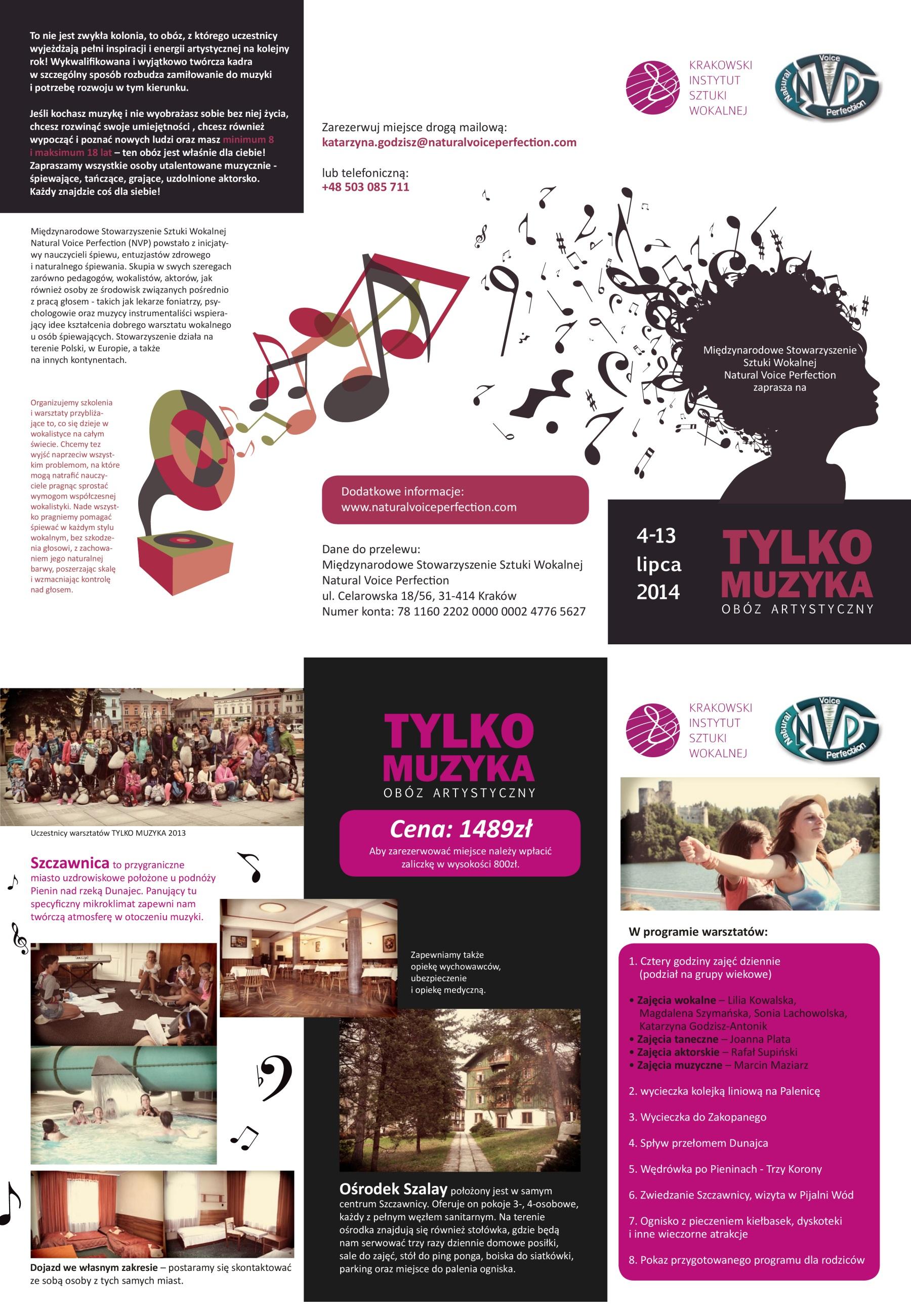 Wakacyjny obóz artystyczny Tylko Muzyka 2014